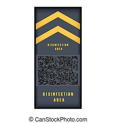 Isolated disinfection mat. Virus prevention - Vector ...