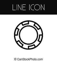 Isolated Disk Outline.  Stack Vector Element Can Be Used For Chip, Stack, Casino Design Concept.