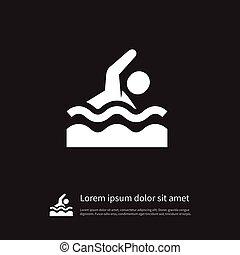 Isolated Dive Icon. Swimmer Vector Element Can Be Used For Dive, Swimmer, Swimming Design Concept.