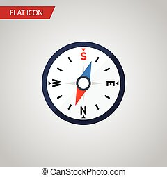 Isolated Divider Flat Icon. Compass Vector Element Can Be Used For Compass, Divider, Navigation Design Concept.