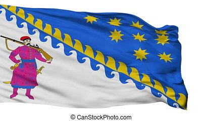 Isolated Dnipropetrovsk Oblast flag, Ukraine -...