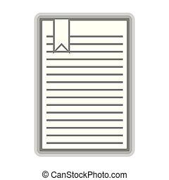 Isolated document symbol on white background