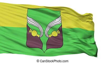 Isolated Doksycy Rajon city flag, Belarus - Doksycy Rajon...