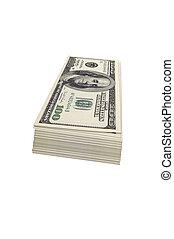 isolated dollars - cash