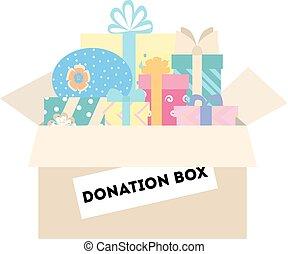 Isolated donation box.