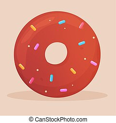 Isolated donut icon