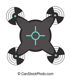 Isolated drone toy icon