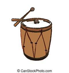 Isolated drum illustration