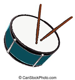 Isolated drum illustration