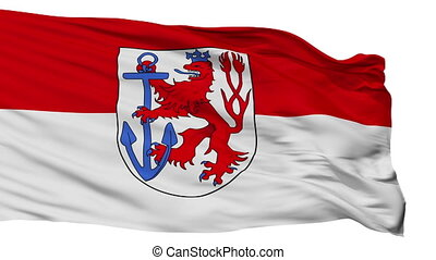 Isolated Duesseldorf city flag, Germany - Duesseldorf flag,...