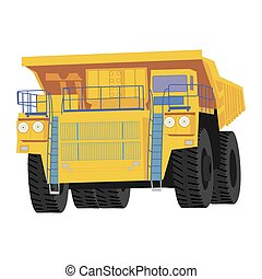 Isolated dumper truck