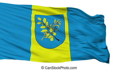 Isolated Dziarzynsk city flag, Belarus - Dziarzynsk flag,...
