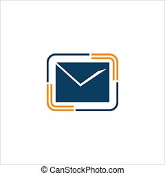 Isolated E-mail, Envelope vector icon,