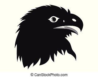 eagle head silhouette vector