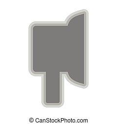 Isolated earpad symbol on white background