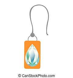 Isolated earring icon