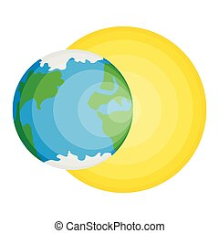 Isolated Earth and Sun