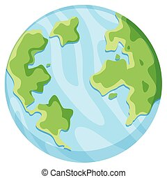 Isolated earth on white background
