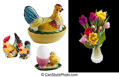 isolated easter decorating image