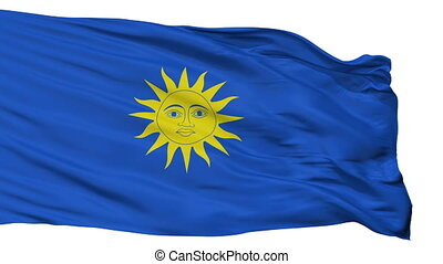 Isolated Ecija city flag, Spain - Ecija flag, city of Spain,...