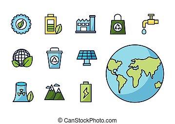 Isolated eco icon set vector design