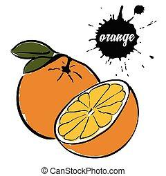 fruit ripe orange