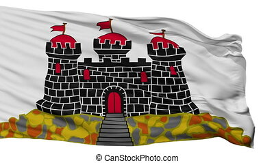 Isolated Edinburgh city flag, UK - Edinburgh flag, city of...