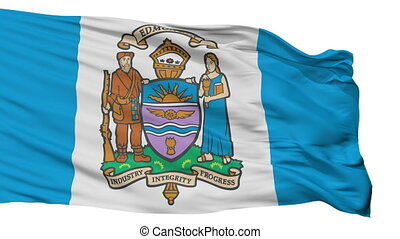 Isolated Edmonton city flag, Canada - Edmonton flag, city of...