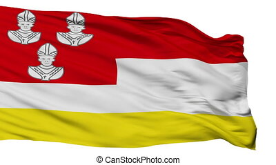 Isolated Eemnes city flag, Netherlands - Eemnes flag, city...