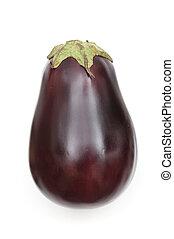 Isolated eggplant on white background