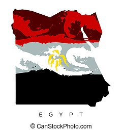 Isolated Egyptian map