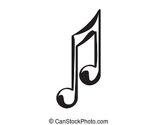 Isolated eighth musical note icon