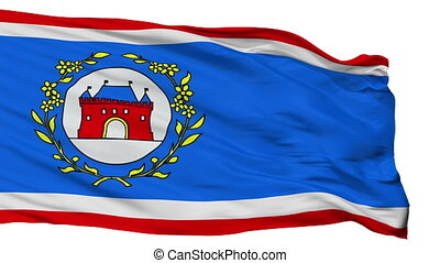 Isolated Elburg city flag, Netherlands - Elburg flag, city...