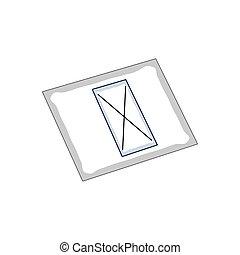 Isolated electoral card. Democracy concept - Vector ...