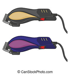 isolated electric hair clippers - fully editable vector...