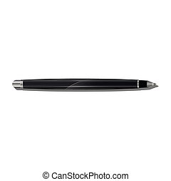 Isolated elegant black pen