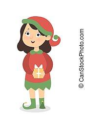 Isolated elf girl.