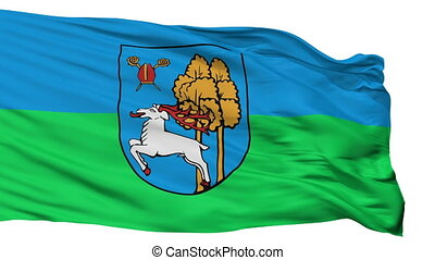 Isolated Elk city flag, Poland - Elk flag, city of Poland,...