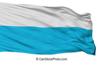Isolated Elva city flag, Estonia - Elva flag, city of...