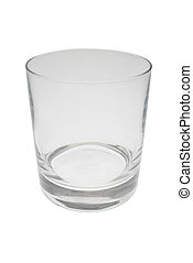 Isolated empty glass