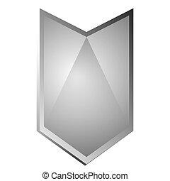 Isolated empty heraldry shield
