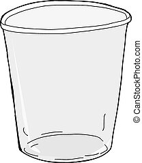 Isolated Empty Plastic Cup - One empty plastic cup over...