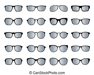 isolated., ensemble, vecteur, icons., lunettes