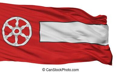 Isolated Erfurt city flag, Germany - Erfurt flag, city of...