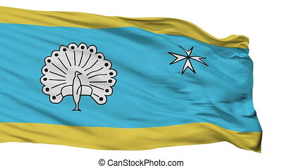 Isolated Ermelo city flag, Netherlands - Ermelo flag, city...