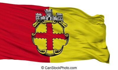 Isolated European city flag, Belgium - European flag, city...