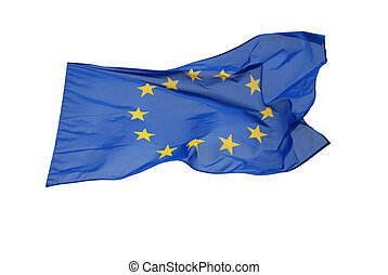 Isolated European flag with clipping path