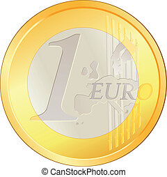 Isolated excellent Euro coin