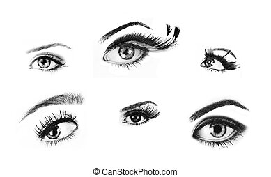 Isolated eyes. - Isolated woman eyes from high quality...