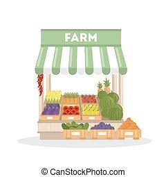 Isolated farm shop.